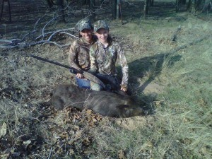 Mom & the Little Gal with her first hog