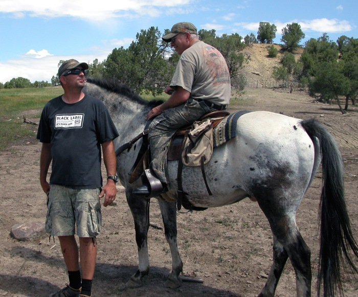 Disabled hunter prepares for horseback hunt