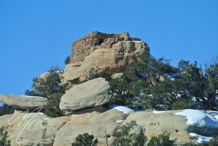 Native American stone house