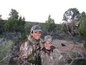 Mia &  LittleGal turkey hunting