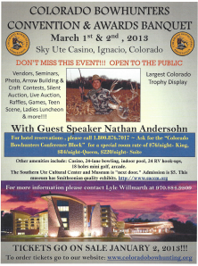 Colorado Bowhunters Association Banquet and Awards