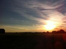 Sunrise across the plains.