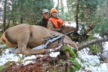 Me & LG on and elk hunt in the San Juan Mountains of Colorado.
