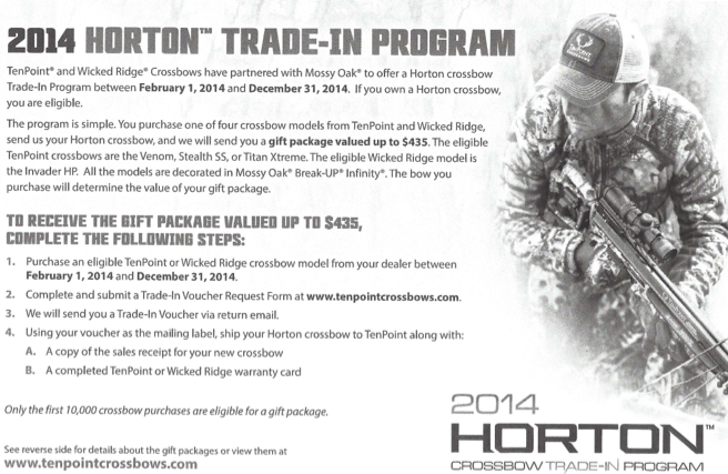 Horton Crossbows Trade-in Program