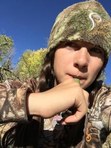 Lea-calling-elk-hunting-colorado