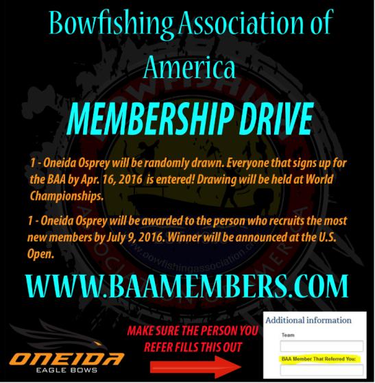Bowfishing-America-Membership-Drive
