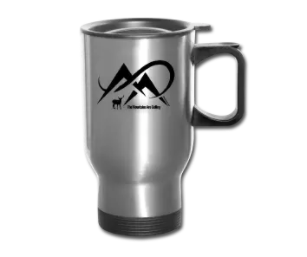 Elk-The Mountains Are Calling-Black-Travel Mug