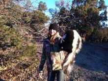 trapping-striped-skunks-mac-outdoors-podcast-mia-anstine-photo-of-lea-leggitt