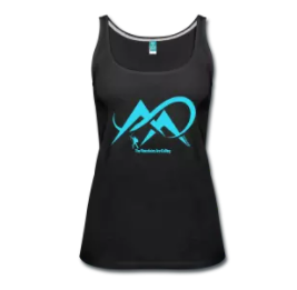 Bowhunting-The Mountains Are Calling-Turquoise-Women_s Premium Tank Top
